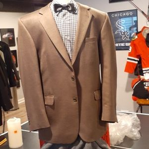 Men Sport Coat/Blazer  42R Silk and Camel Hair